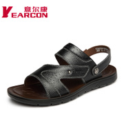 YEARCON/welcome new leather suede leather summer shoes fashion dual open-toe men's sandals
