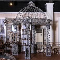恒发大型铁艺术品 蒙古包  户内外装饰商场店中店蒙古包