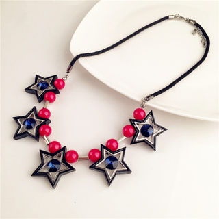 Love stars fashion Joker short clavicle rhinestone sweater chain necklace Jewelry Accessories chain clothing accessories