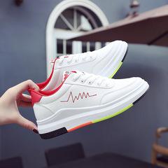 小白,鞋女夏,2018,亚博APP下载安装,百搭潮,韩版,时尚,休闲鞋,货号,红色
