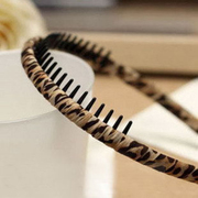 Korea jewelry hand-made by the genuine winding cloth art wide Leopard belt tooth headband package mail