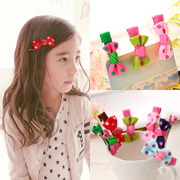 Know NI children hair ornaments cute loving Butterfly clip Duckbill clips girls head ornaments baby hairpin clip flower