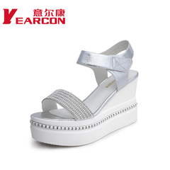 YEARCON/er Kang shoes authentic 2015 summer styles with open-toe rhinestone magic women sandals