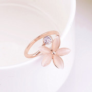 Nice sweet clean female Korean flower ring jewelry rings Korean temperament gift index finger ring