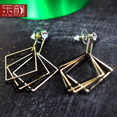 Mail fashion Europe and personality temperament Stud long exaggerated elegant earrings are hypoallergenic jewelry earrings