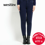 Westlink/2015 West end of new solid color slim and down to keep warm in winter pants women's pants