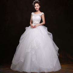 Purple Fairy Palace wedding dresses one shoulder neck white pettiskirt to 205 new Korean version of the bride wedding dresses