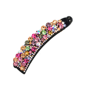 Korean hair accessories Korea head vertical clamping large twist in the exquisite crystal banana clips clip ponytail holder