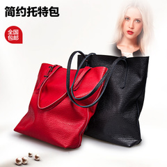 Miss evening thinking 2015 new retro leather women bag simple versatile shoulder bag lady bag
