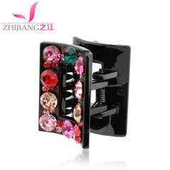 Zhijiang catch clip bangs clip medium size Korea rhinestone hair clip bangs clip spring clip girl tiara hair accessories