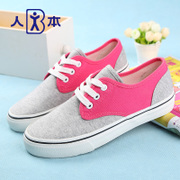 This authentic 2015 colour matching couples shoes shoes canvas shoes women by the end of autumn is wild casual women's shoes