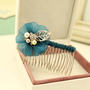 Colorful grid (accessory) Korea fashion accessories hair accessories comb tiara Combs, a Korean version of fork S0038