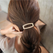 Know Connie hair accessories Korean rectangular temperament capitatum rope string hollow alloy ring band jewelry