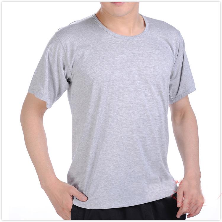 大码宽松中老年青年男式汗衫打底 圆领纯棉男老头衫夏季短袖体T恤
