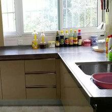 合肥304不锈钢整体橱柜定做po11锈钢台ma简约厨房整体橱柜