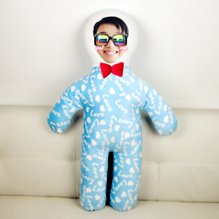 个性定制等身人形抱枕DIY布娃娃毛绒玩具送闺蜜生日礼物照片定做