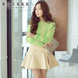 Sweater girls big pink doll 2015 fall loose bat in the new Korean wave sweater crewneck pullover