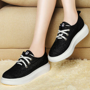 Centennial trifle canvas 2015 new casual shoes with low Korean flat-bottom strap platform shoes