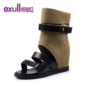 Exull q2015 spring in the new high cut miter cold boots women shoes 15153143