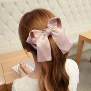 Cool na Korean Super fabric butterflies first clip spring clip big Ribbon hair jewelry hand female 6376