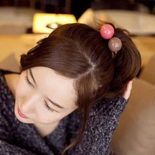 Korea hair accessories hair band Korean balls Candy-colored circles and South Korea provided flowers rope thick rubber band tiara
