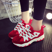 Korea sport shoes women, spring 2016 new Korean version of running shoes for students with breathable Joker Forrest casual shoes