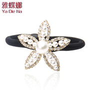 Ya na hair accessory jewelry Korea headdress high-grade imitation Pearl hair washer water bit flower
