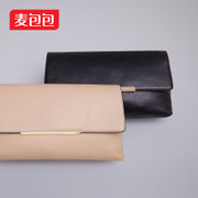 Wheat bags header layer of leather hand bag 2015 summer envelope bag leather small bag diagonal shoulder tide package