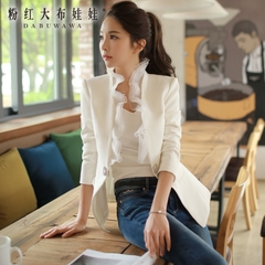 Small suit girls big pink doll fall 2015 dress shirt slim OL temperament ladies small suits long sleeve