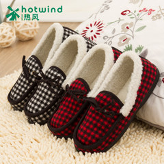 Hot spring new velvet for fall/winter warm shoes at home bread ladies Plaid home 66H4706