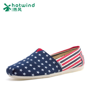 New men's spring/summer hot stars striped canvas shoes was wearing flat shoes wave 71S5204
