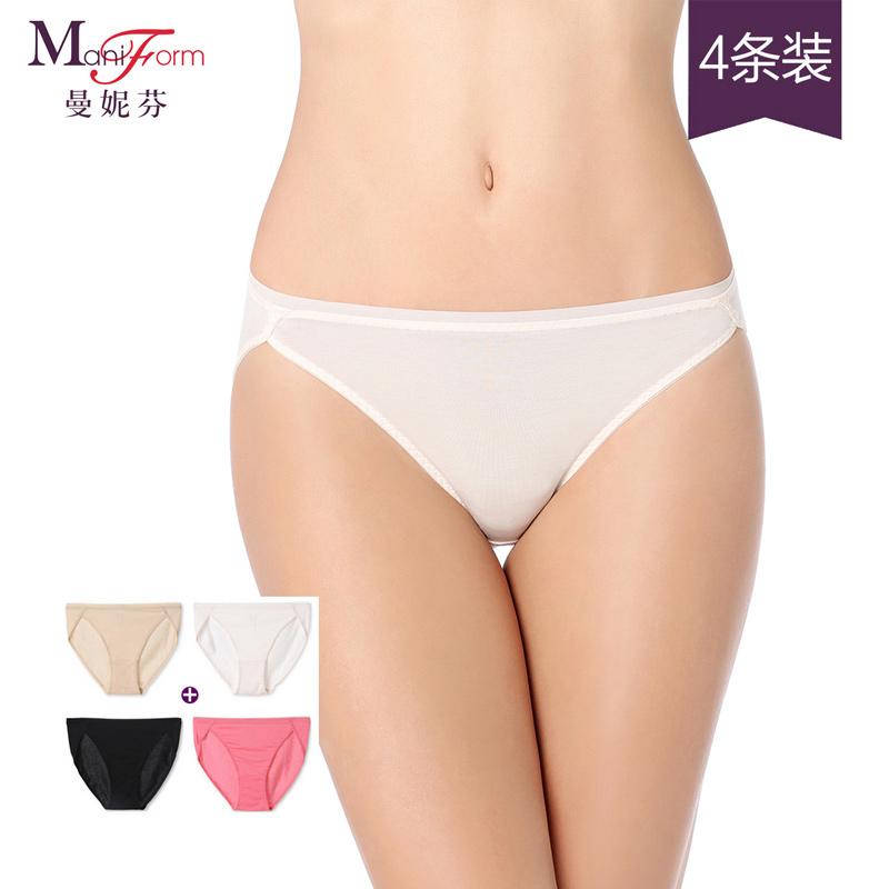 【特价4条装】曼妮芬纯色棉质莫代尔内衣 低腰三角女士无痕365bet买彩违法吗
