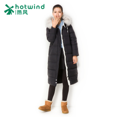 Hot Korean style OL knees Hooded down jacket in winter long padded warm coat women 12H5906