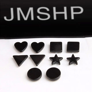 Cool na black men no ear hole magnet to magnet-Stud Earrings Korean girls fake earring 2244