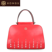 Honggu Hong Gu 2015 counters authentic European fashion pierced leather ladies handbag 5490