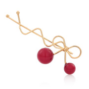 Pack email Korea clip bangs clip Korean hair accessories hair clip hairpin jewelry red cherry hair clips