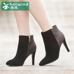 Hot ladies short boots high heel stiletto England elegant pointy ankle boots casual ankle boots 75H5976