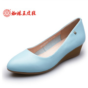 Spider King spring new elegant women's shoes with leather comfort shoes with wedges women's high heel shoes