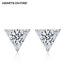 「HOF」Hearts On Fire 新品白色18K金15分钻石耳钉UU 548