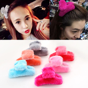 Know Connie hair accessories Korean catch fall/winter plush, faux fur fluffy medium catch Chuck hairpin jewelry