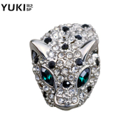 YUKI Korea jewelry suits suit men''s Leopard brooches men and high collar pin collar women accessories fashion