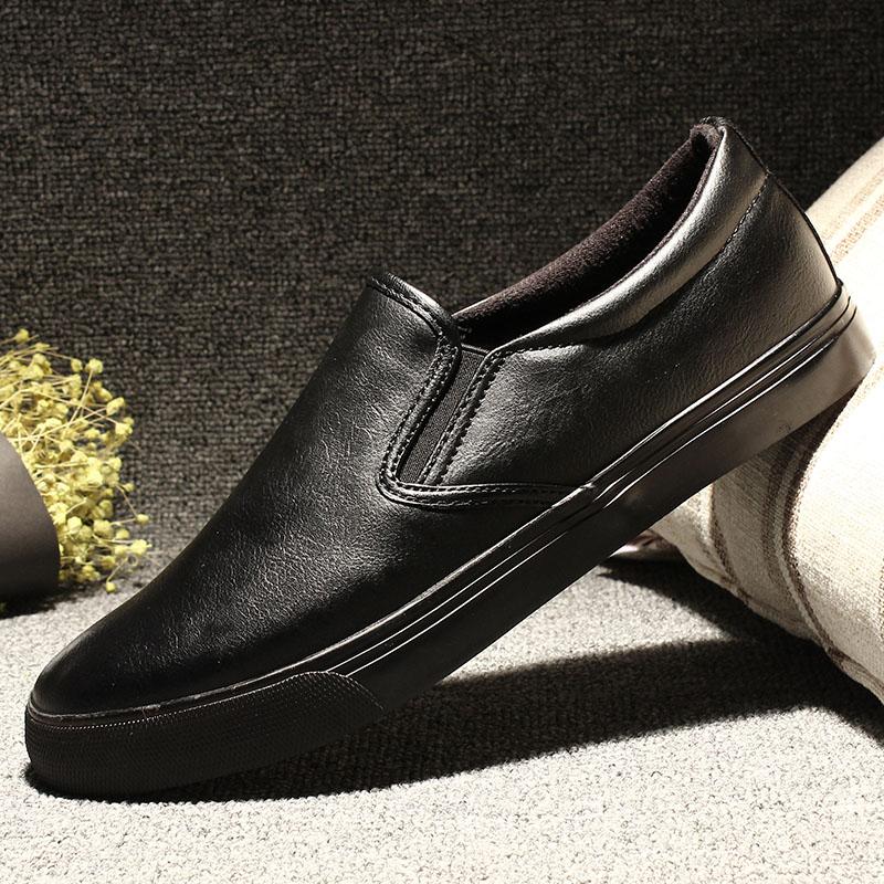 秋季新款乐福鞋男鞋韩版潮流一脚蹬懒人鞋百搭小黑鞋子休闲鞋皮鞋