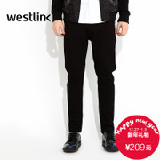 Westlink/West fall 2015 new Joker slim feet thick black casual pants boys trousers