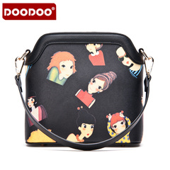 Doodoo2015 new stylish women's Mobile Shell baodan shoulder bags slung printing ladies small bag autumn tides