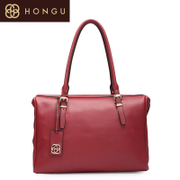 Honggu Hong Gu 2015 counters authentic European fashion solid color layer cowhide shoulder bag 5196