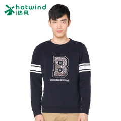 Hot air men's spring men's College wind printed sweater men sweater tide Korean version of self 20W5701