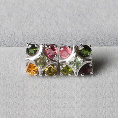 Bao Crystal Brazil old pit tourmaline with 925 fungus nail girl cute slim old customer seconds