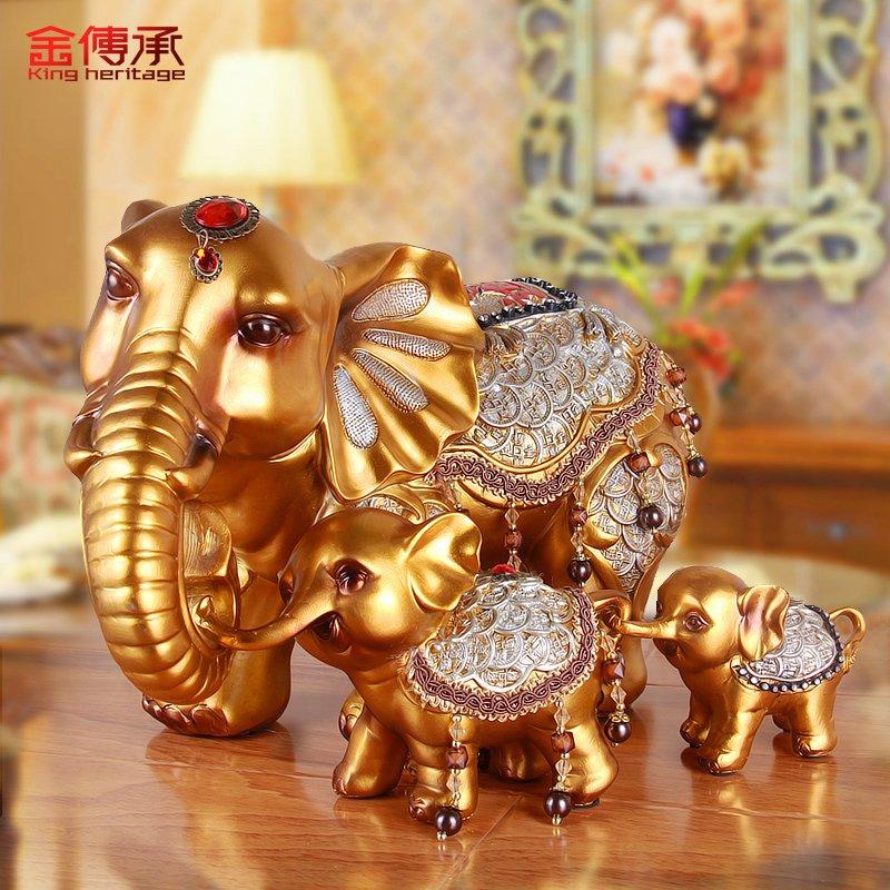 传承 欧式 家居 酒柜 装饰品 招财 大象 电视柜 摆件 客厅 创意 结婚 礼物