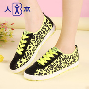 This fall 2015 Leopard-print fluorescent colored canvas casual shoes skateboarding shoes sweet tide student shoes