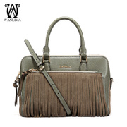 Wanlima/million 2015 fall/winter new style handbag fringed shoulder bags leather handbags fashion handbag